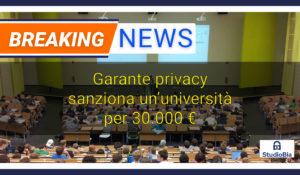 privacy università