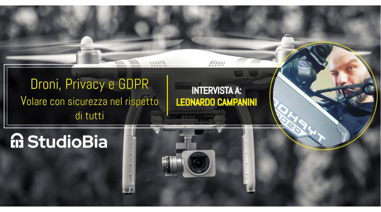 Intervista a a Vivert TV Droni e GDPR