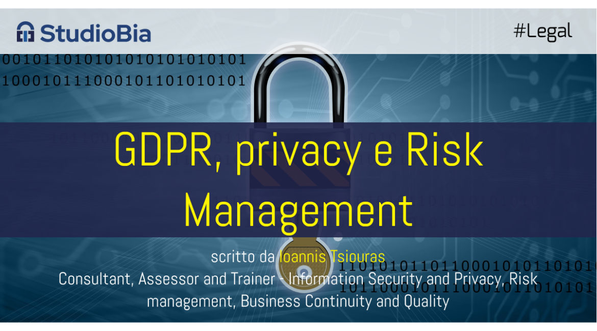 Privacy, GDPR e Risk Management