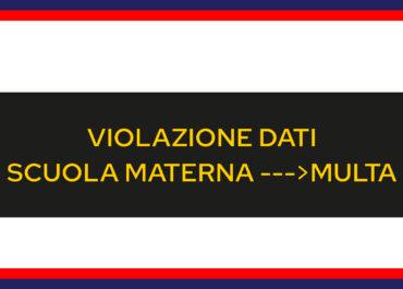 Privacy scuola materna: multa da €2,000 per violazione dati degli alunni