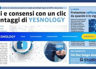 Arriva Yesnology, nuova piattaforma per gestire dati e consensi, come? Con un click!