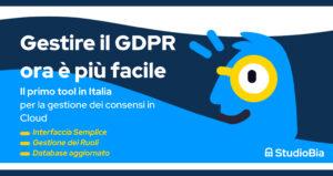 Il primo tool in Italia per la gestione dei consensi in Cloud