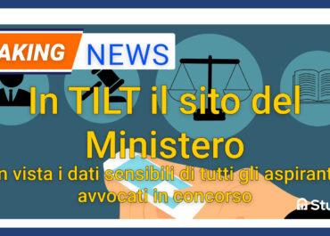 Sito del ministero in tilt per il concorso avvocati
